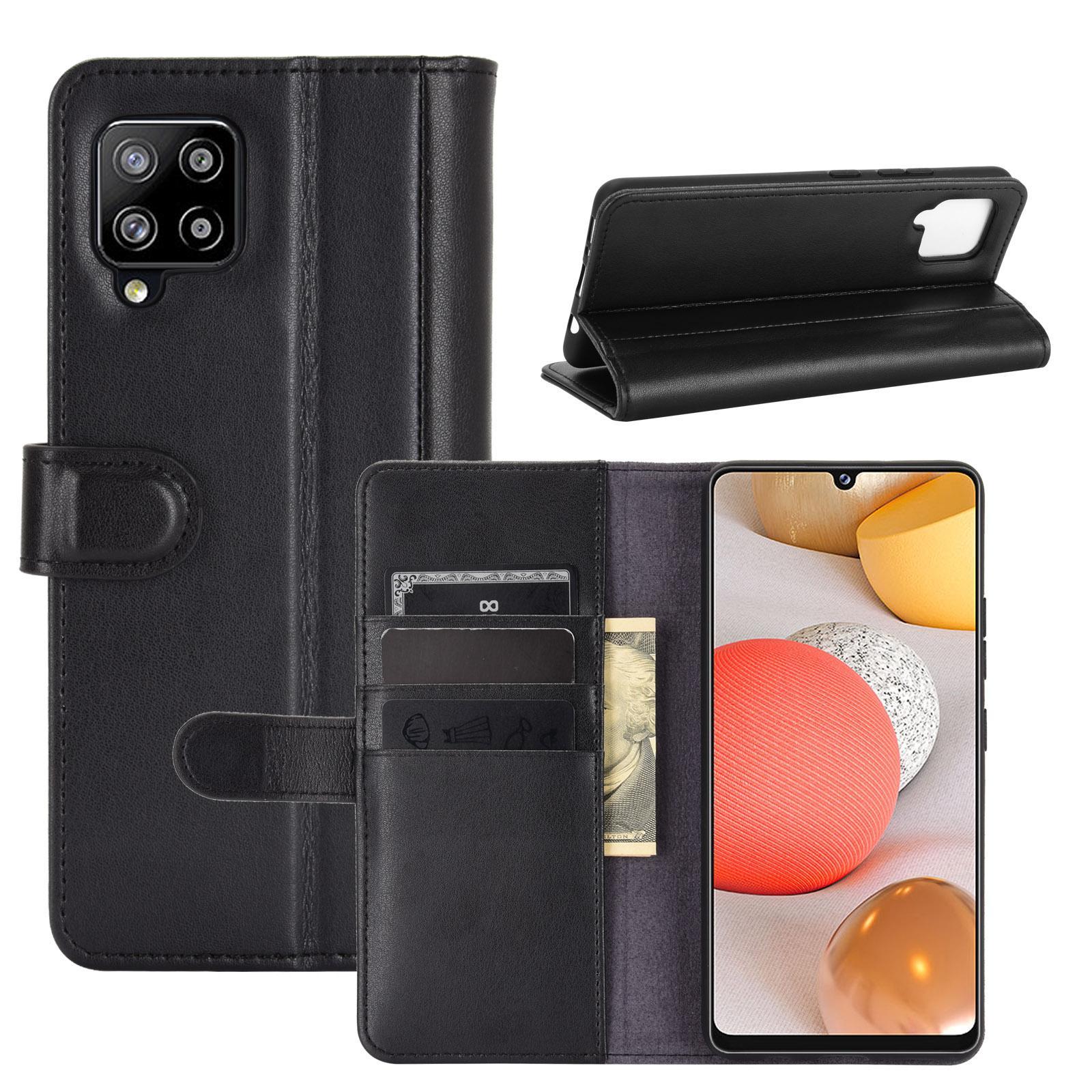 Aito Nahkakotelo Samsung Galaxy A42 5G musta