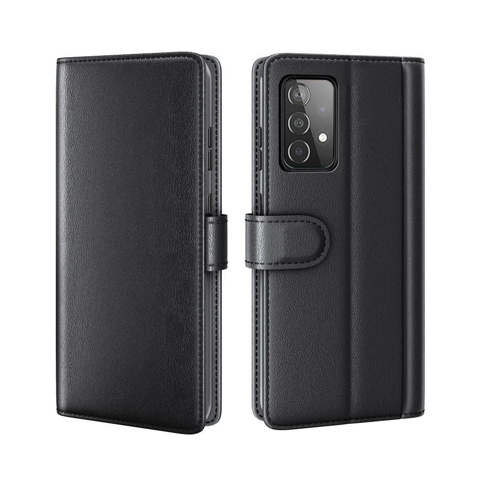 Aito Nahkakotelo Samsung Galaxy A52/A52s musta