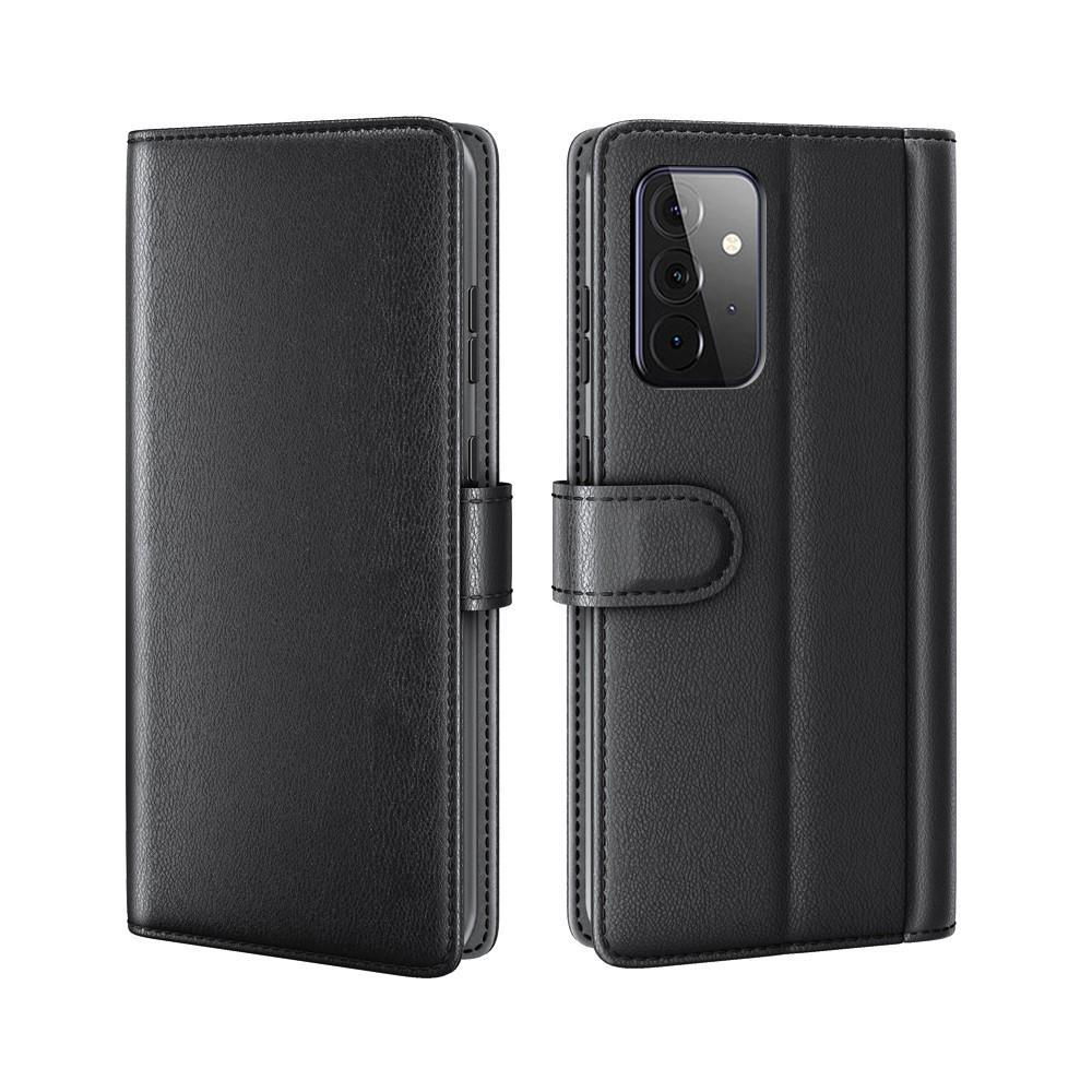 Aito Nahkakotelo Samsung Galaxy A72 5G musta