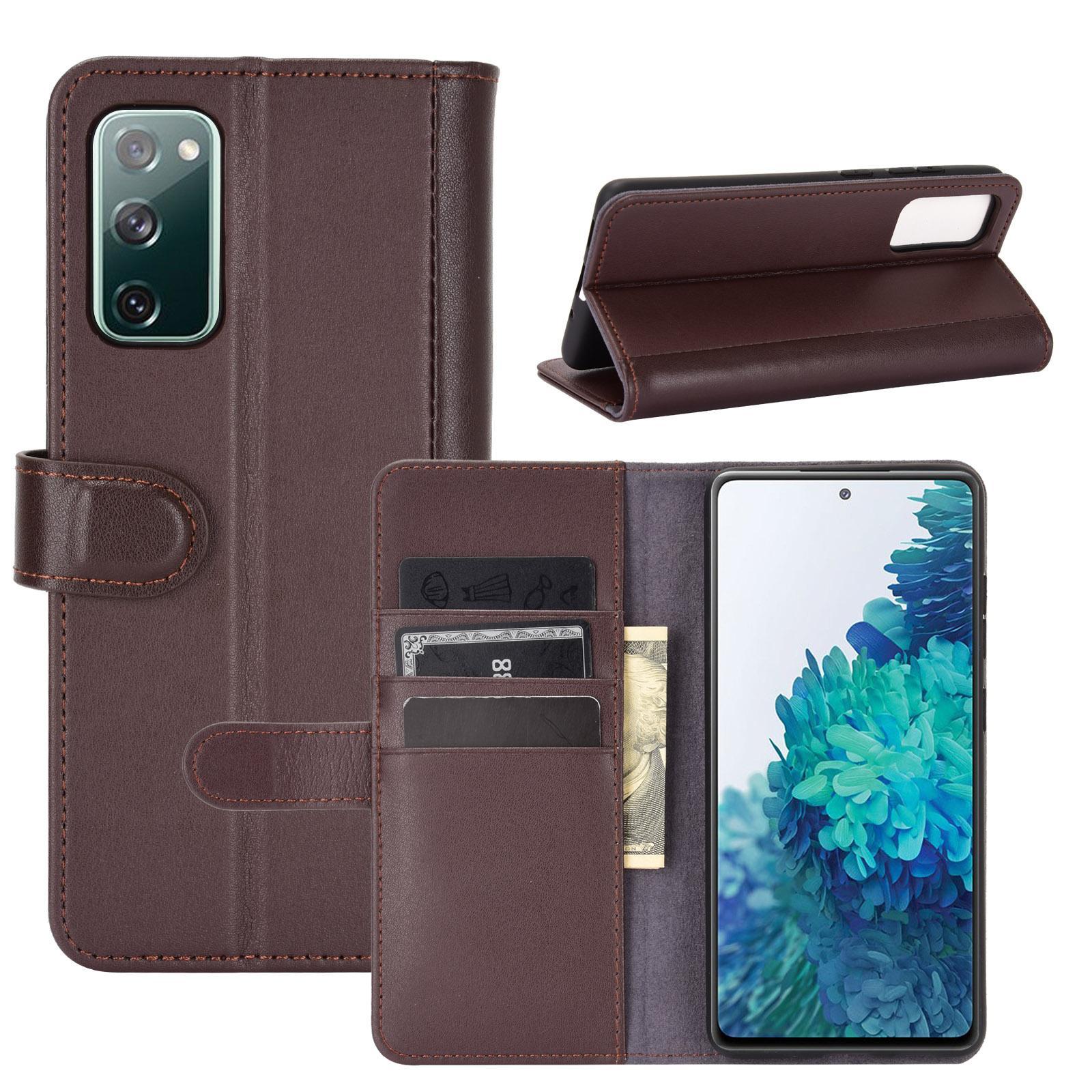 Aito Nahkakotelo Samsung Galaxy S20 FE ruskea