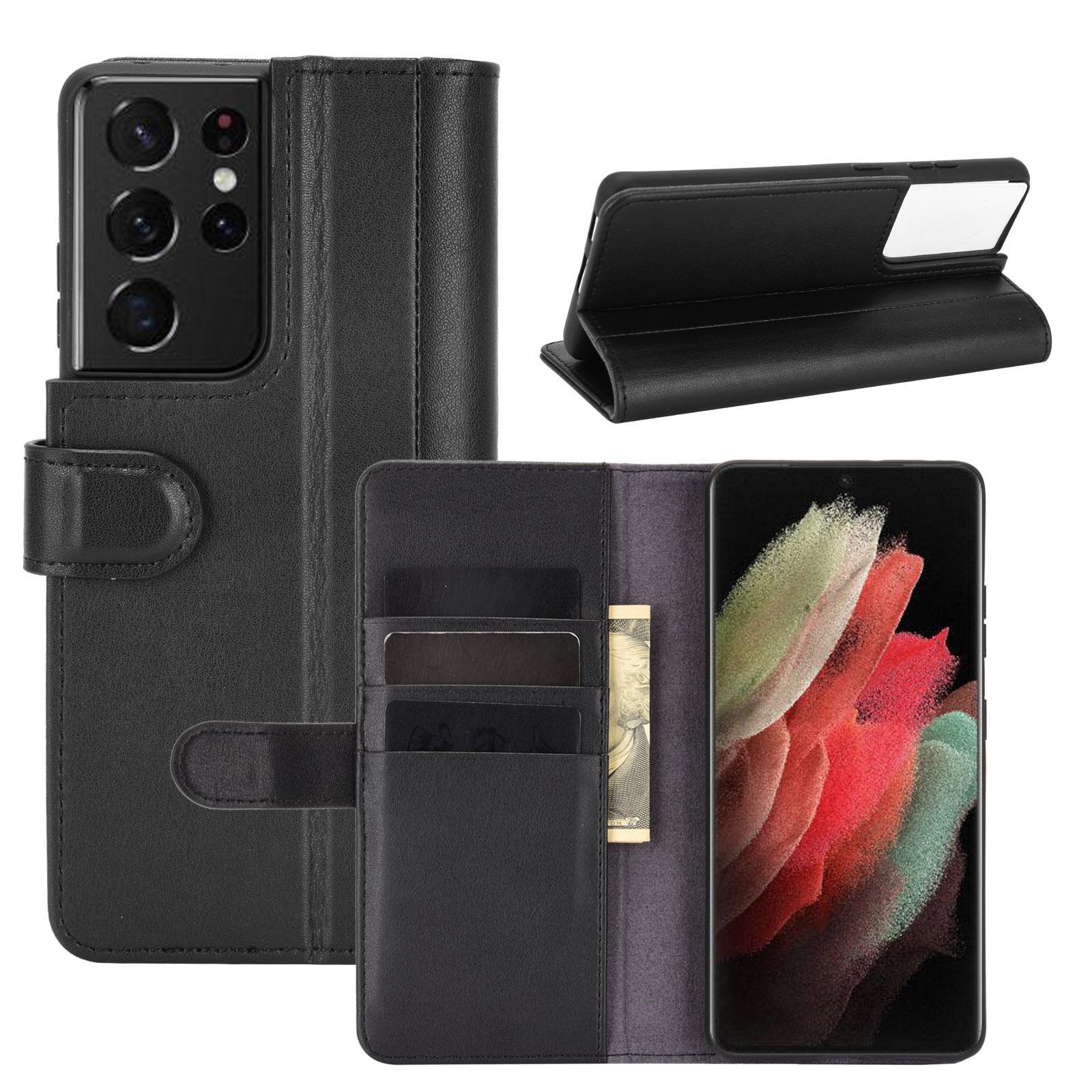 Aito Nahkakotelo Samsung Galaxy S21 Ultra musta