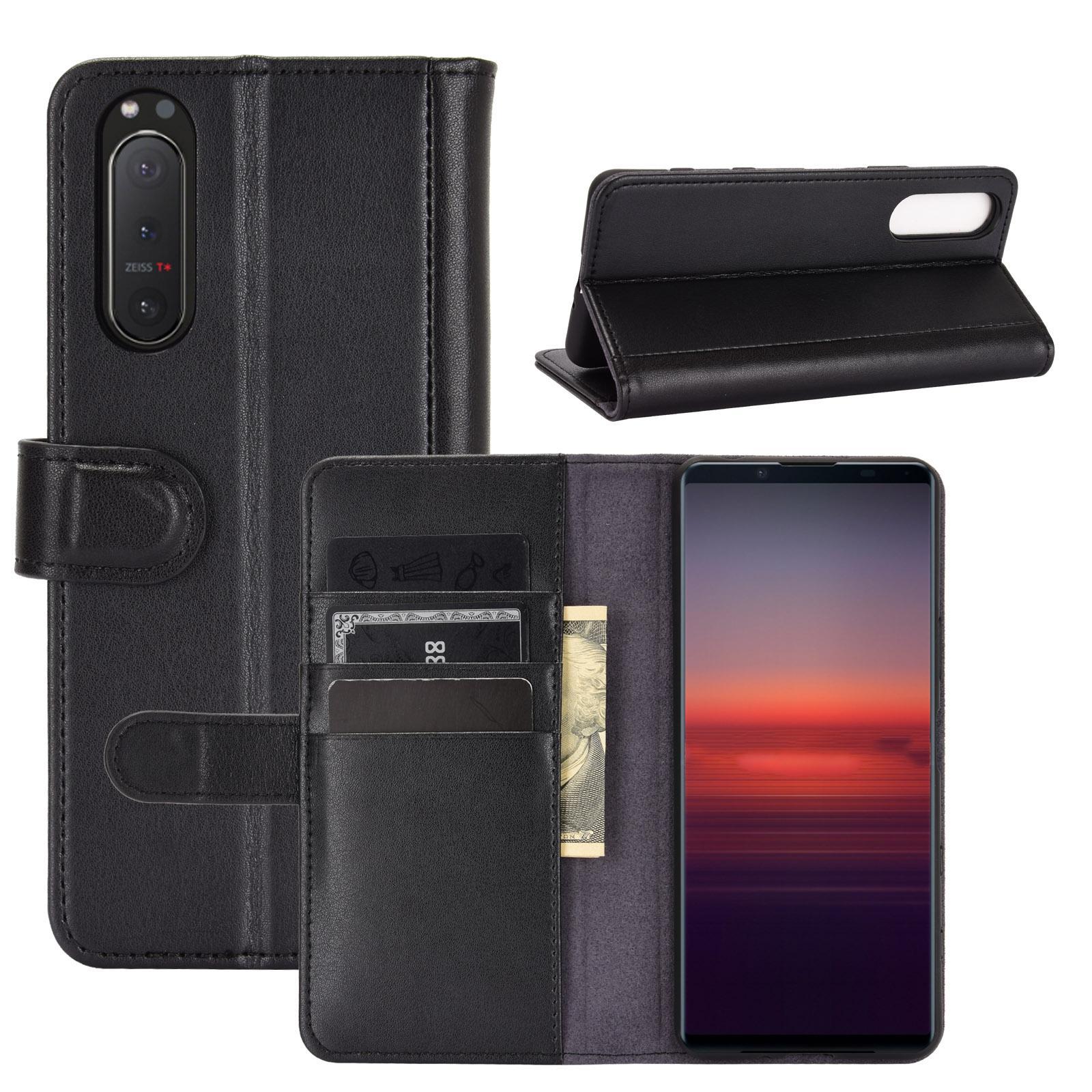 Aito Nahkakotelo Sony Xperia 5 II musta