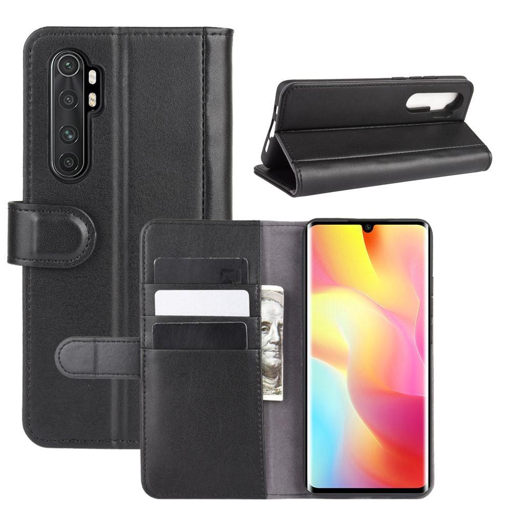 Aito Nahkakotelo Xiaomi Mi Note 10 Lite musta