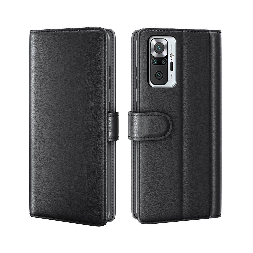 Aito Nahkakotelo Xiaomi Redmi Note 10 Pro musta