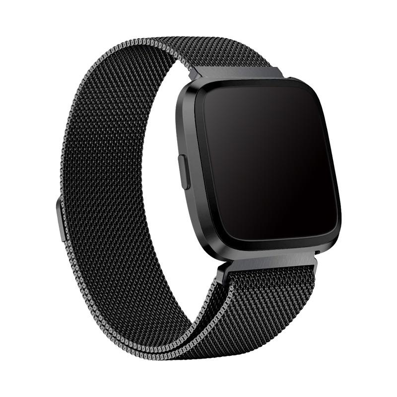 Ranneke Milanese Fitbit Versa 3/Sense musta