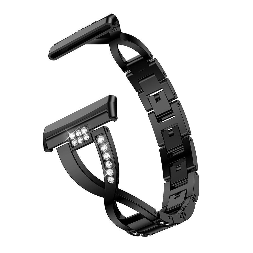 Crystal Bracelet Fitbit Versa 3/Fitbit Sense Black