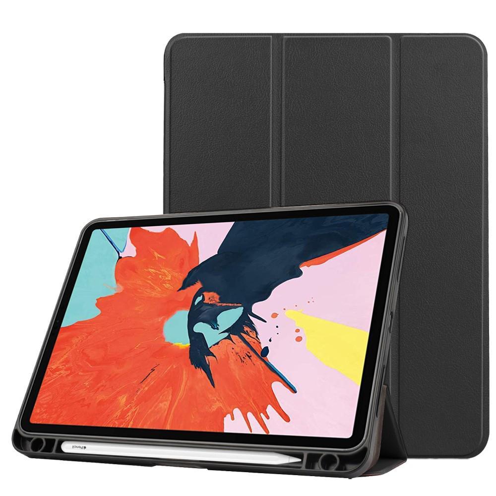 Kotelo Tri-fold Kynäpidikkeellä iPad Air 10.9 2020 musta
