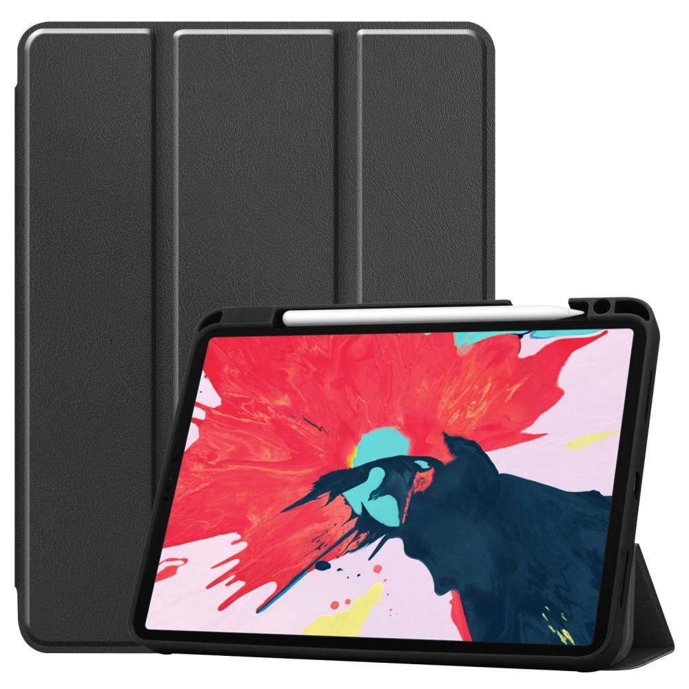 Kotelo Tri-fold Kynäpidikkeellä iPad Pro 11 2018/2020 musta