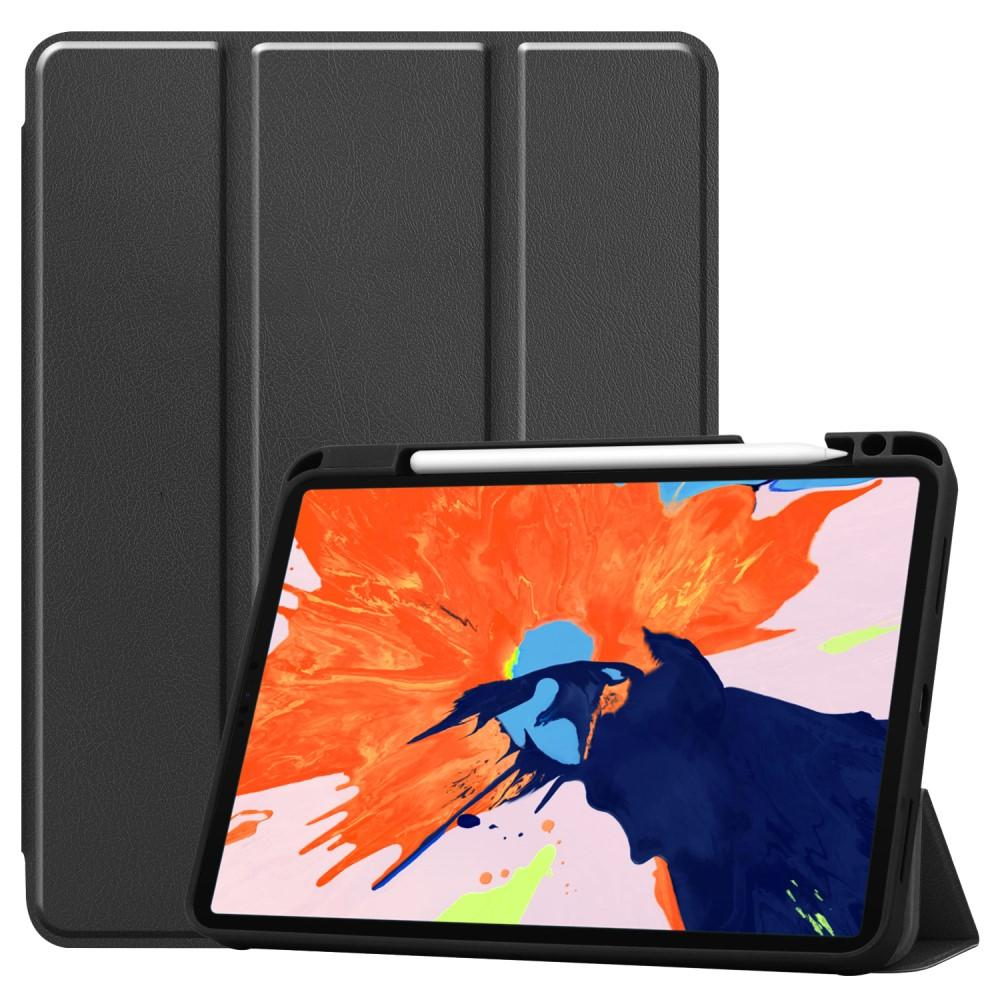 Kotelo Tri-fold Kynäpidikkeellä iPad Pro 12.9 2018/2020 musta