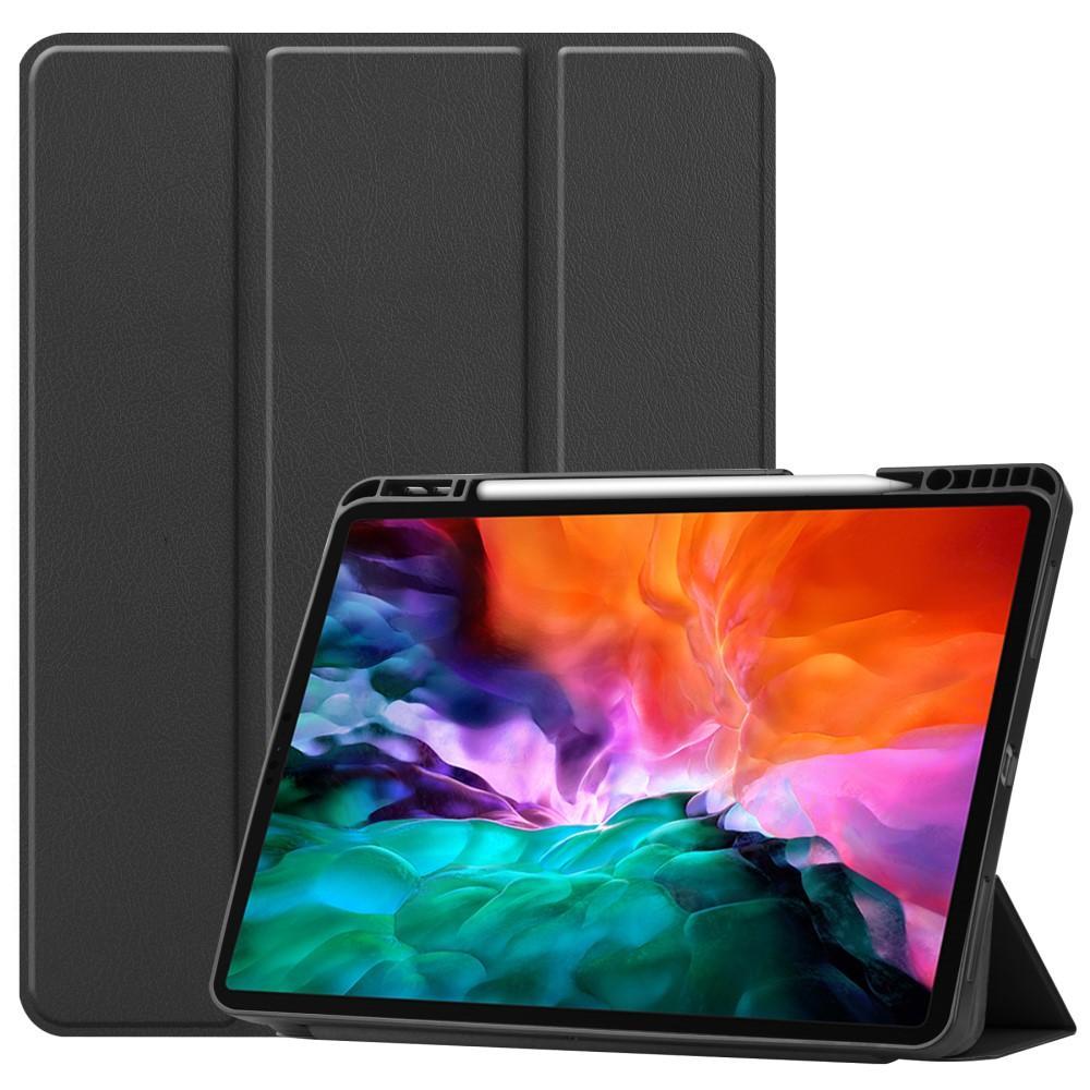 Kotelo Tri-fold Kynäpidikkeellä iPad Pro 12.9 2021 musta