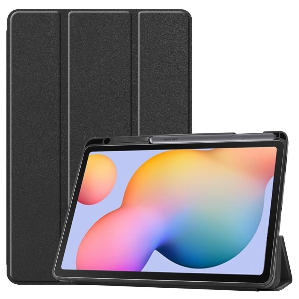 Kotelo Tri-fold Kynäpidikkeellä Galaxy Tab S6 Lite 10.4 musta