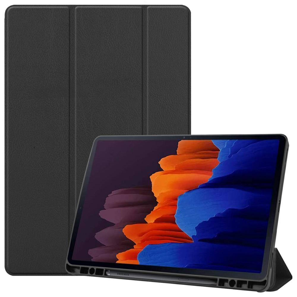 Kotelo Tri-fold Kynäpidikkeellä Galaxy Tab S7 Plus 12.4 musta