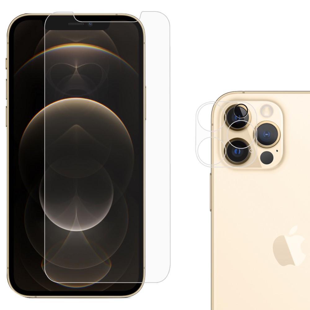 Panssarilasi Näytön & Kameran Linssinsuoja iPhone 12 Pro Max