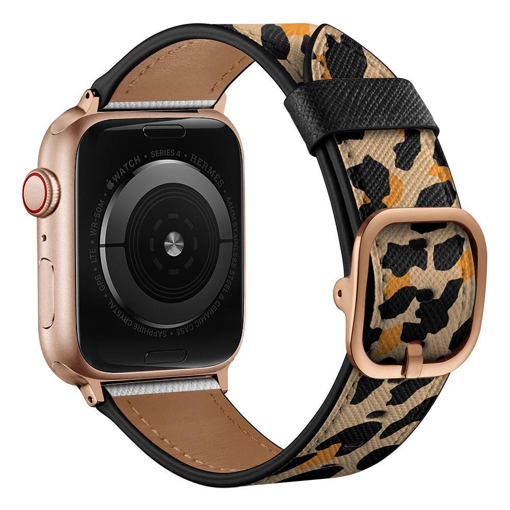 Nahkaranneke Apple Watch 42/44/45 mm leopardi