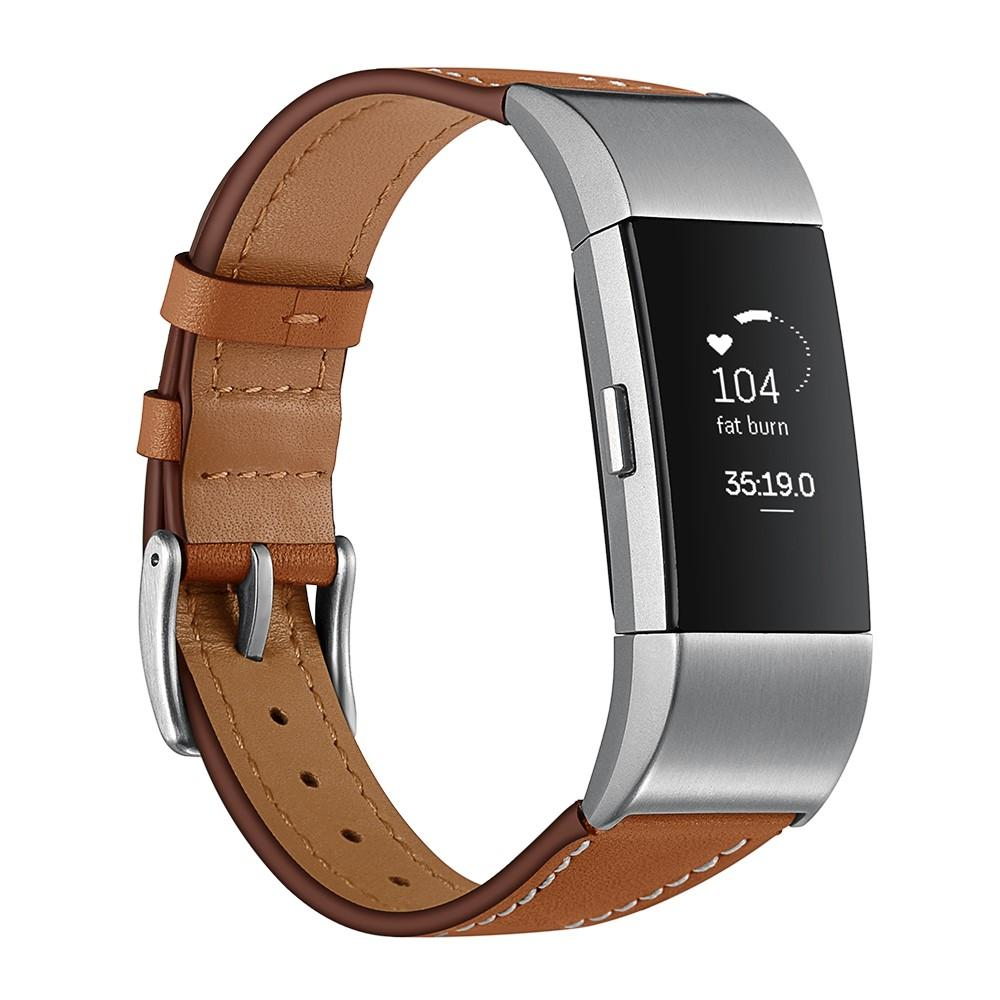 Nahkaranneke Fitbit Charge 2 ruskea