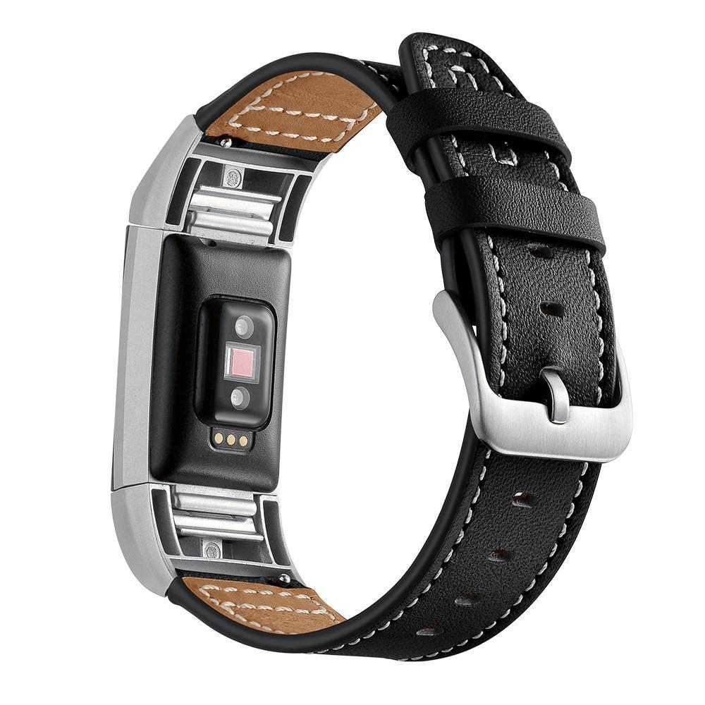 Nahkaranneke Fitbit Charge 2 musta