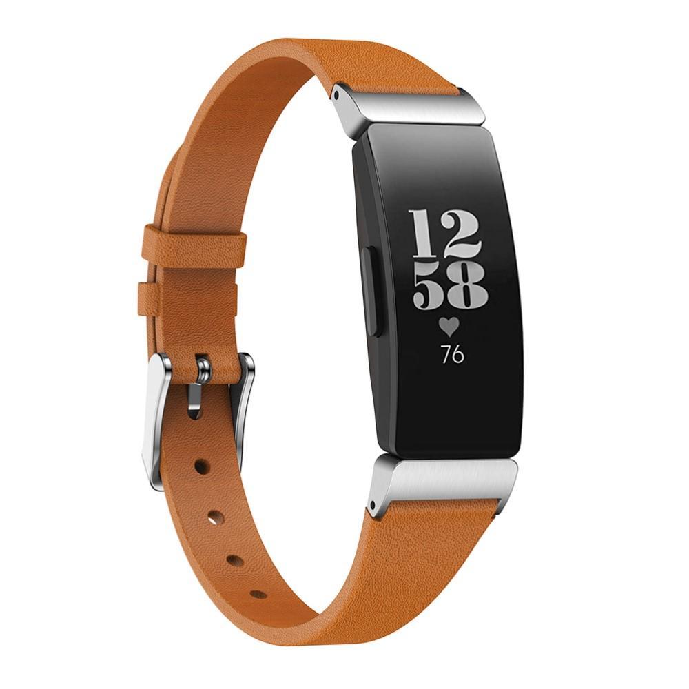 Nahkaranneke Fitbit Inspire/Inspire HR/Inspire 2 ruskea