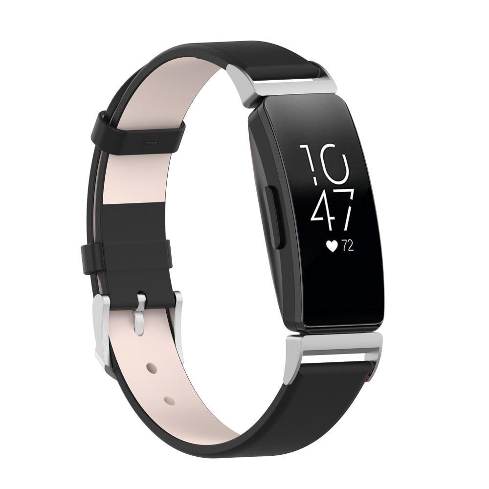 Nahkaranneke Fitbit Inspire/Inspire HR/Inspire 2 musta