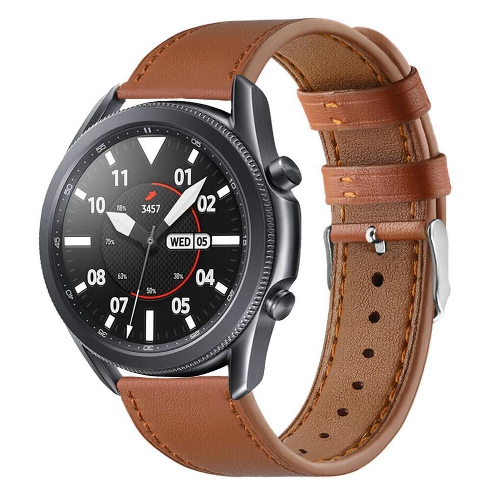 Nahkaranneke Samsung Galaxy Watch 3 45mm ruskea