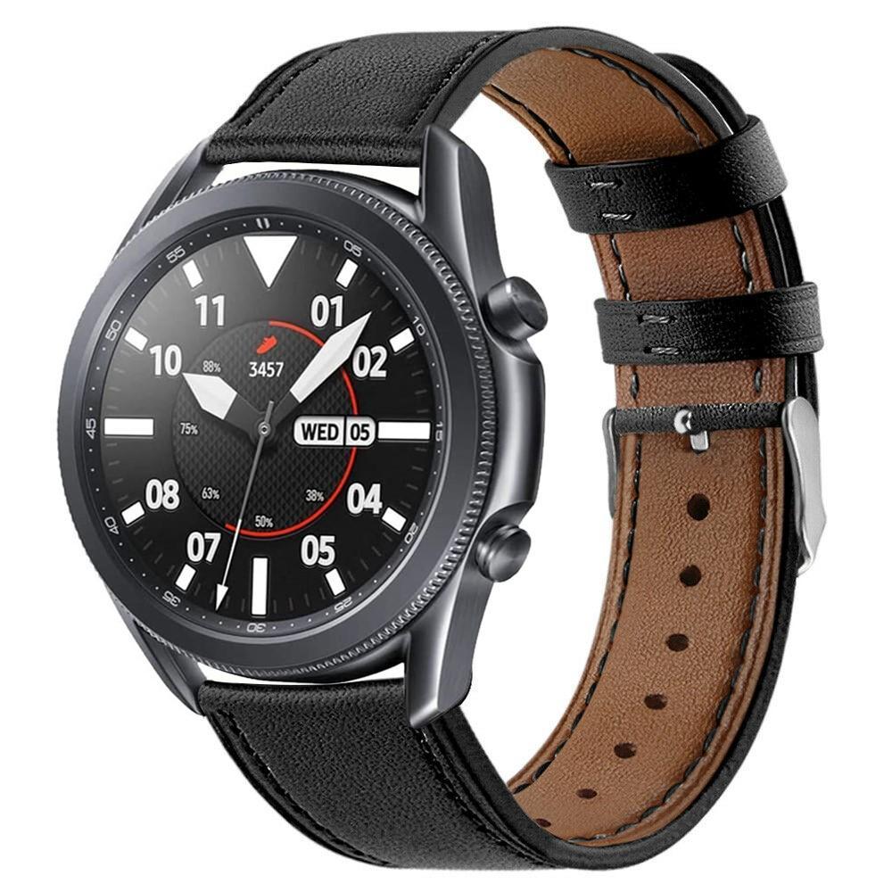 Nahkaranneke Samsung Galaxy Watch 3 45mm musta