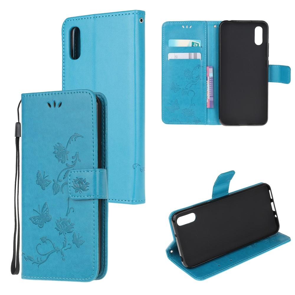 Nahkakotelo Perhonen Samsung Galaxy Xcover 5 sininen