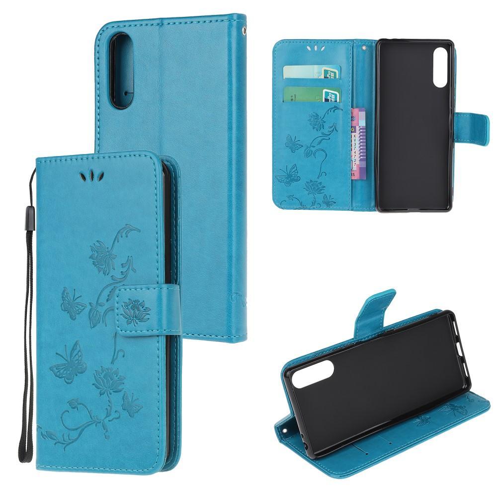 Nahkakotelo Perhonen Sony Xperia L4 sininen