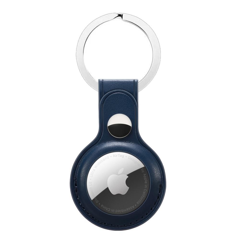 Nahkakotelo Avaimenperä Apple AirTag sininen