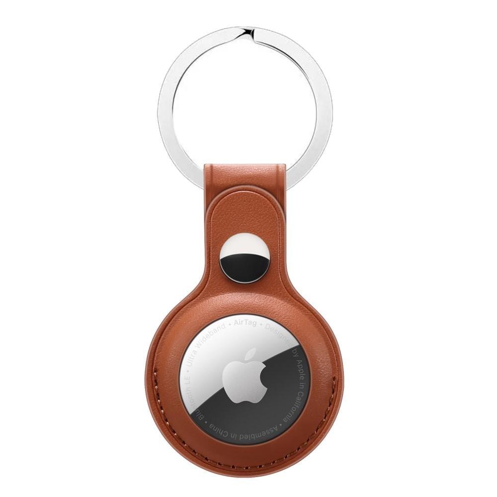 Nahkakotelo Avaimenperä Apple AirTag ruskea