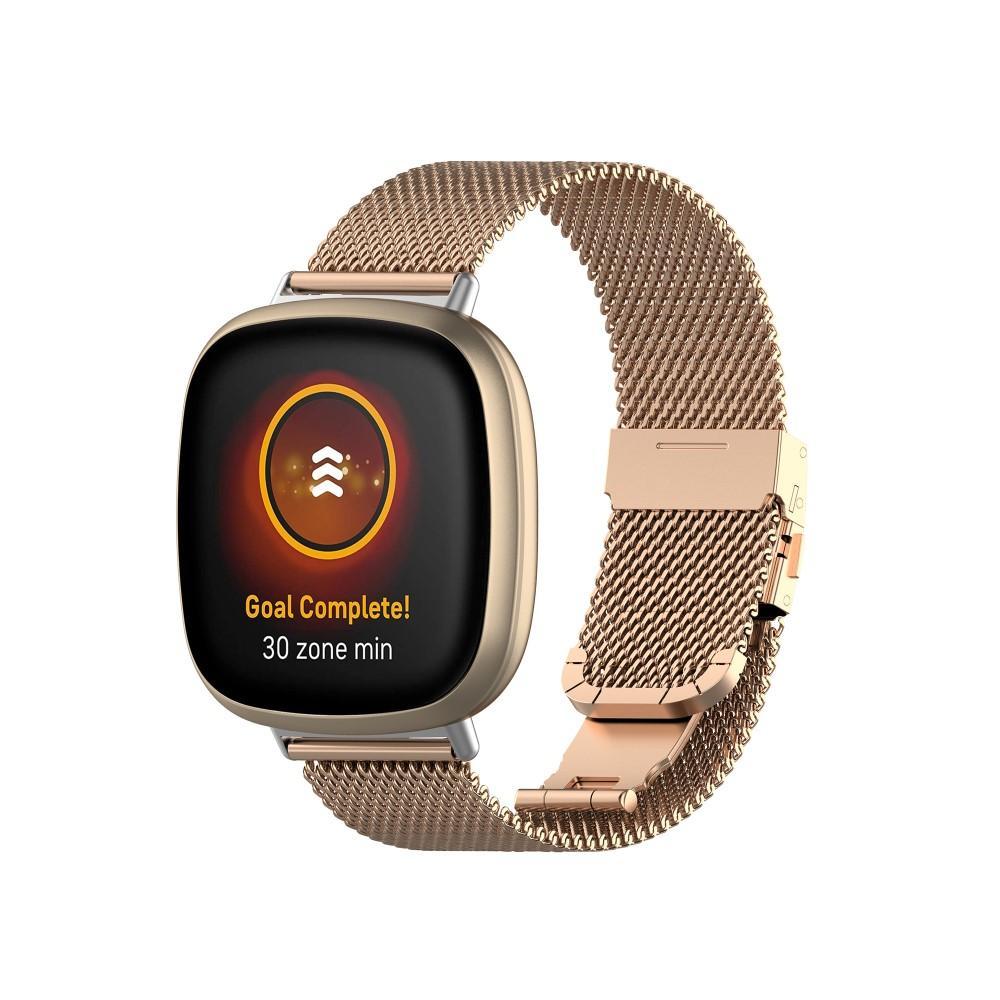 Mesh Bracelet Fitbit Versa 3/Sense Rose Gold