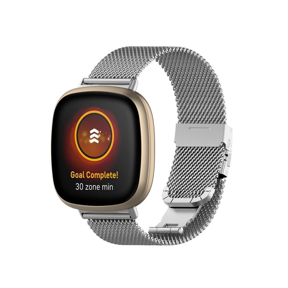 Mesh Bracelet Fitbit Versa 3/Sense Silver