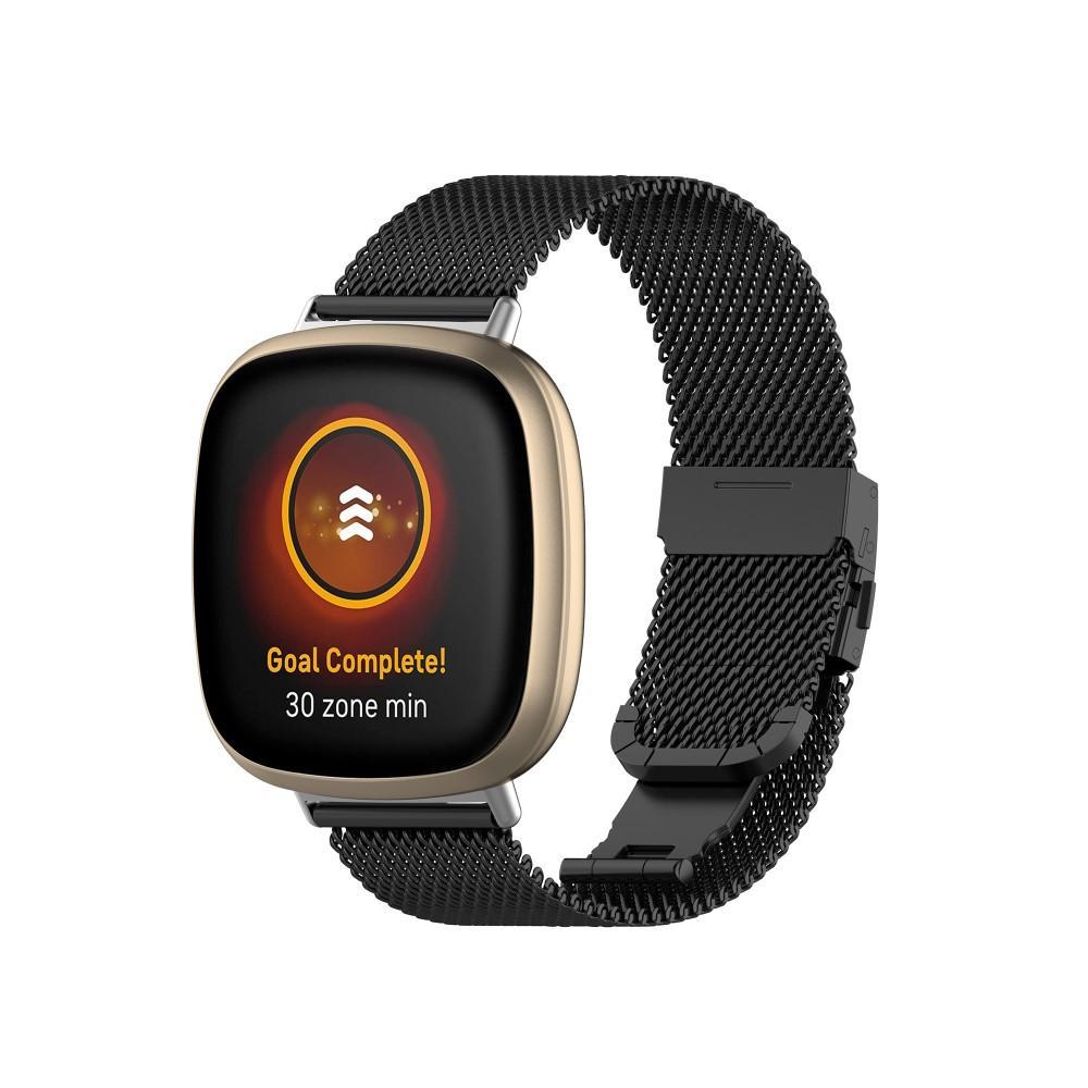 Mesh Bracelet Fitbit Versa 3/Sense Black