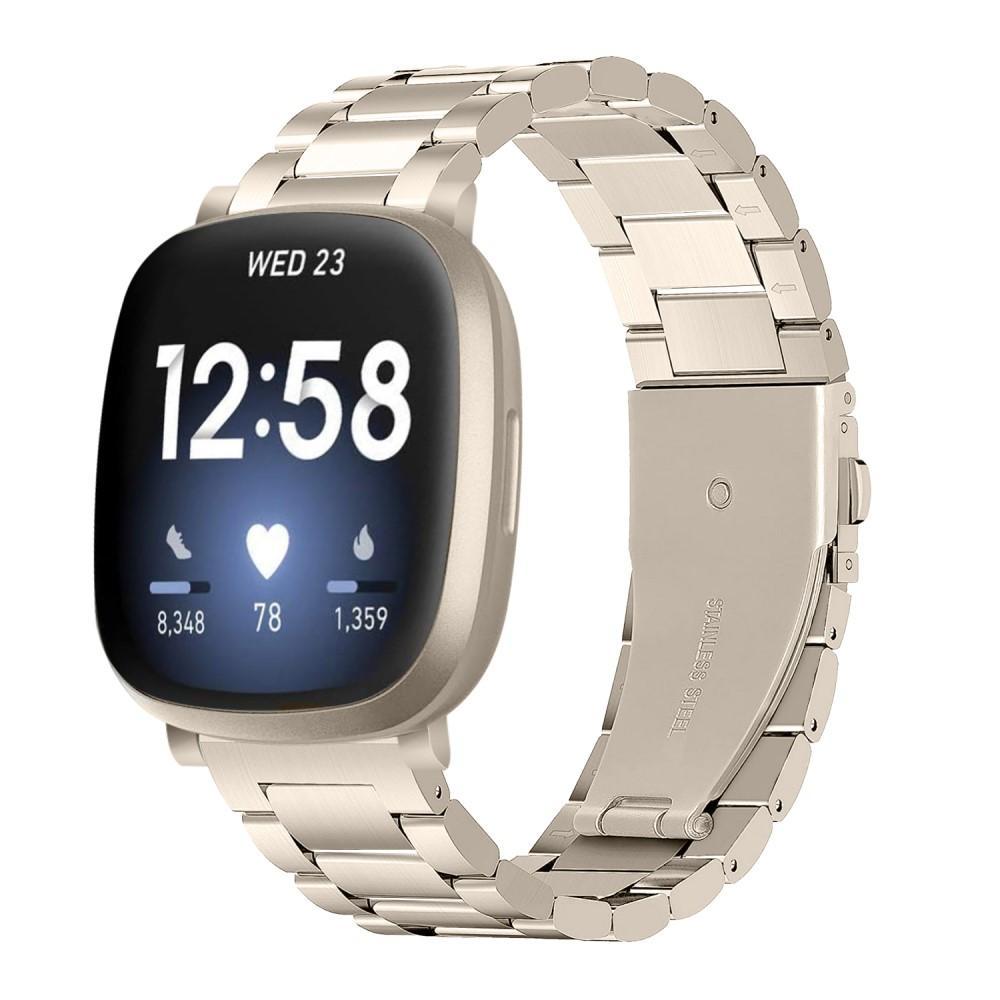 Metalliranneke Fitbit Versa 3/Sense kulta