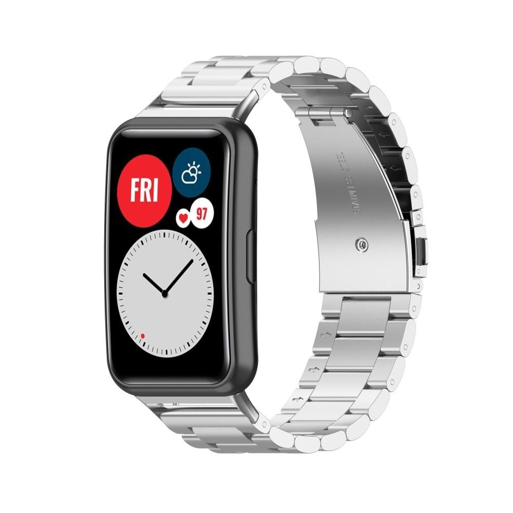 Metalliranneke Huawei Watch Fit hopea