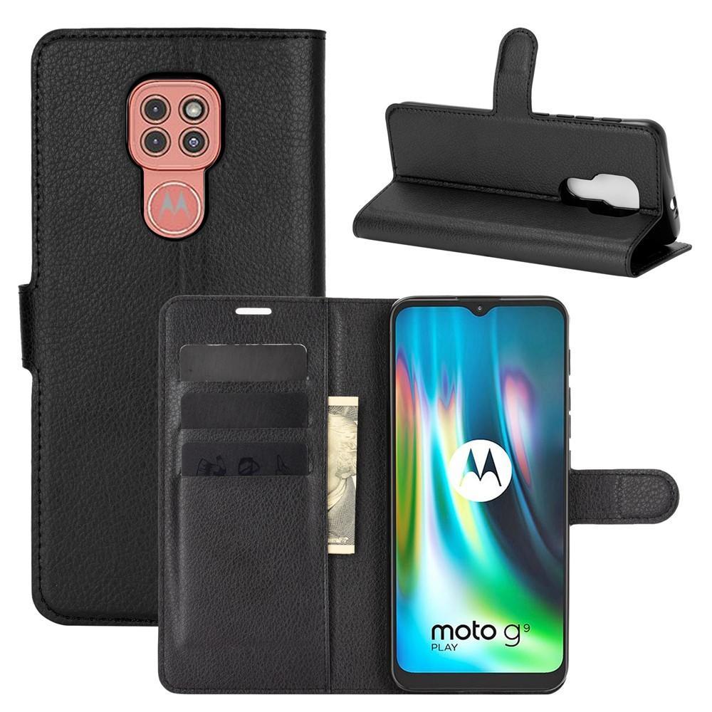 Suojakotelo Motorola Moto G9 Play musta
