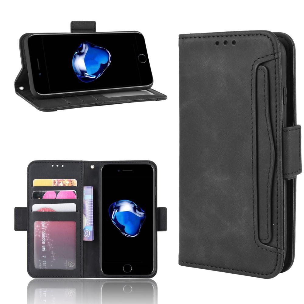 Multi Lompakkokotelo iPhone 7/8/SE 2020 musta