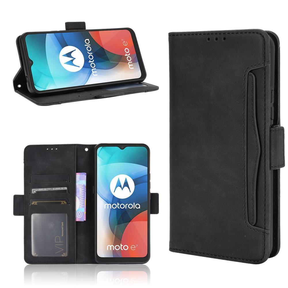 Multi Lompakkokotelo Motorola Moto E7 musta