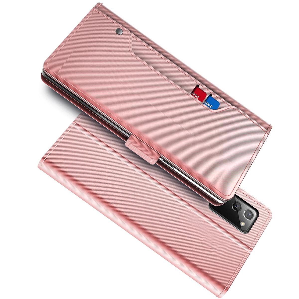 Suojakotelo Peili Galaxy Note 20 Ultra Vaaleanpunainen