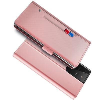 Suojakotelo Peili Galaxy S21 Ultra Vaaleanpunainen
