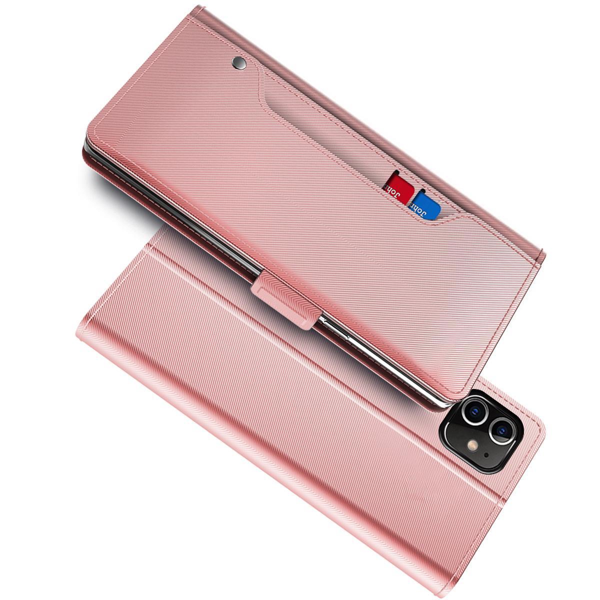 Suojakotelo Peili iPhone 12/12 Pro Vaaleanpunainen