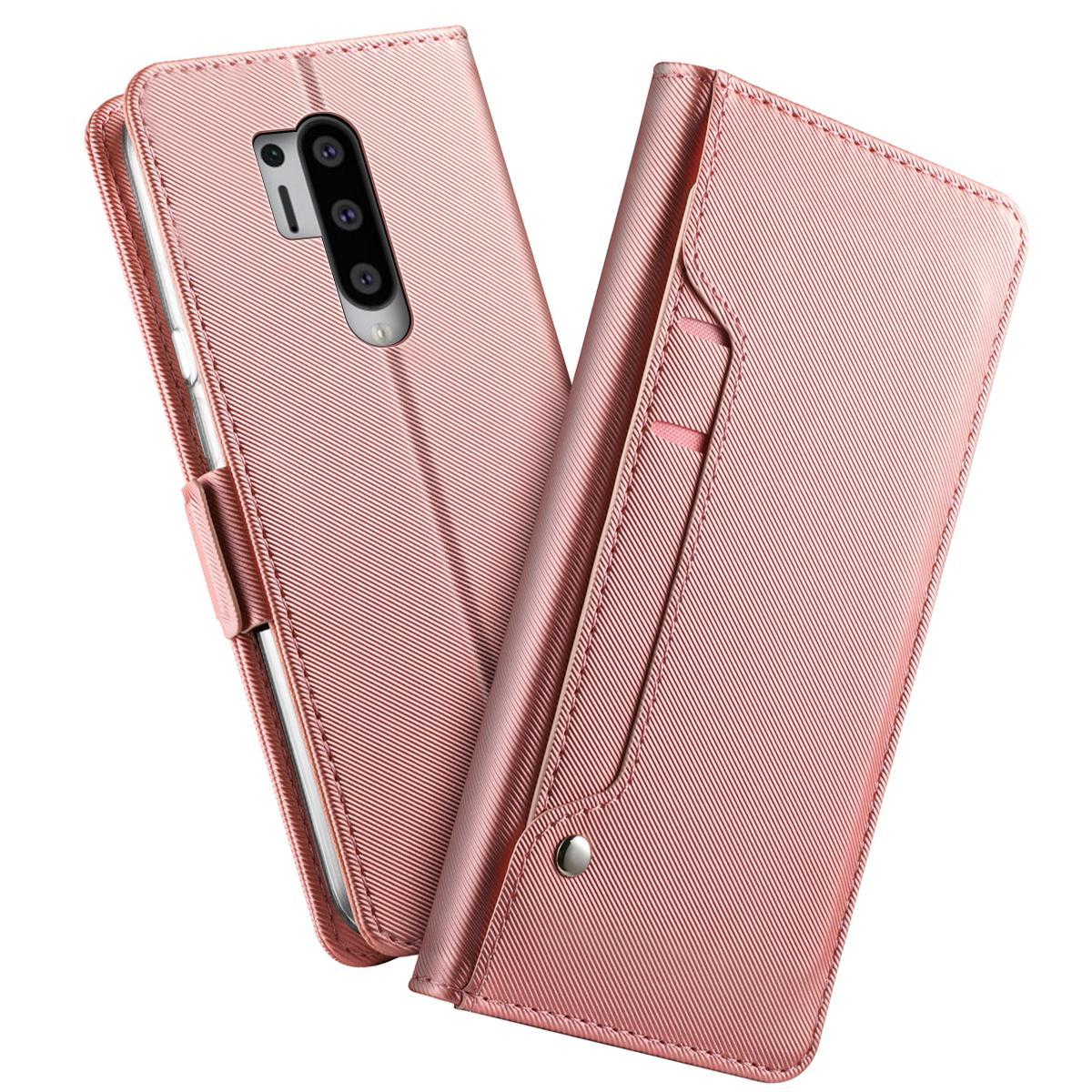 Suojakotelo Peili OnePlus 8 Pro Vaaleanpunainen