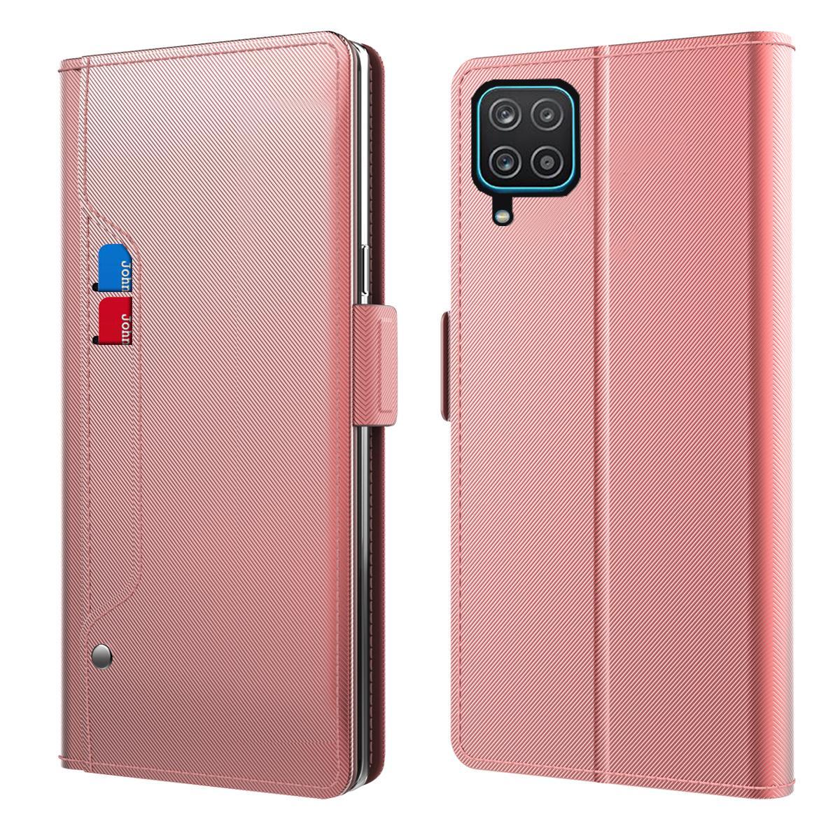 Suojakotelo Peili Samsung Galaxy A12 Vaaleanpunainen