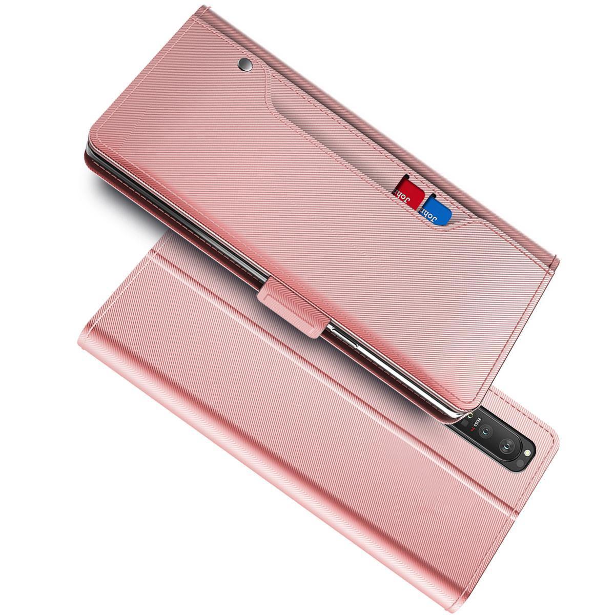 Suojakotelo Peili Sony Xperia 1 III Vaaleanpunainen