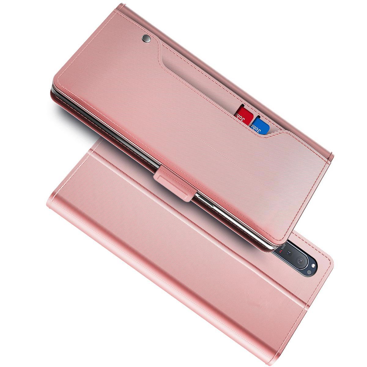 Suojakotelo Peili Sony Xperia 5 II Vaaleanpunainen