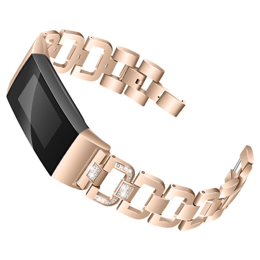 Rhinestone Bracelet Fitbit Charge 3/4 Champagne Gold