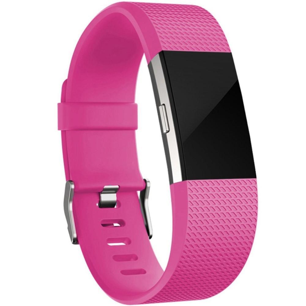 Silikoniranneke Fitbit Charge 2 cerise