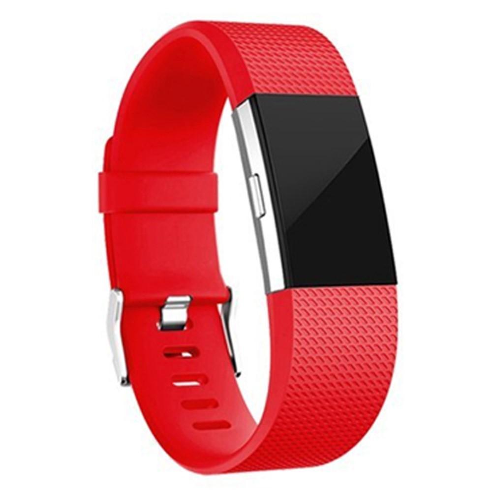 Silikoniranneke Fitbit Charge 2 punainen