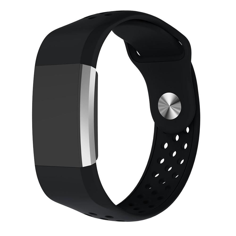 Silikoniranneke Urheilu Fitbit Charge 2 musta