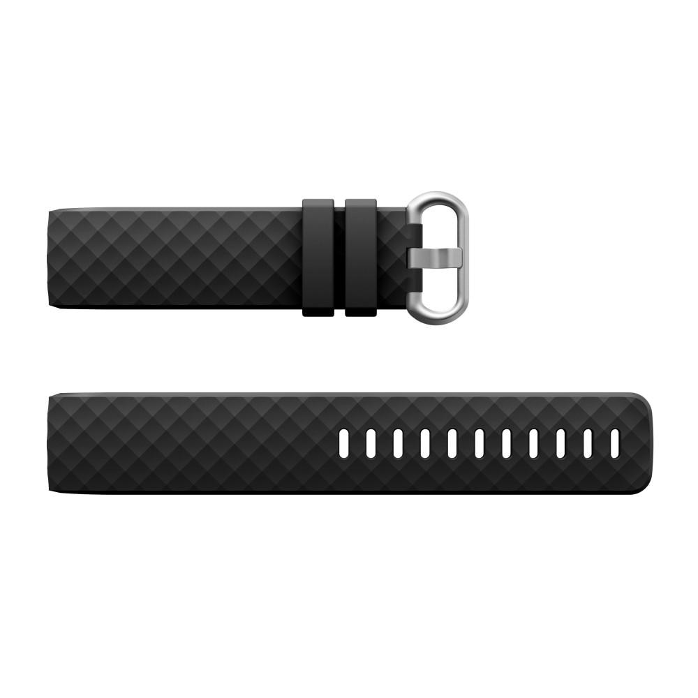 Silikoniranneke Fitbit Charge 3/4 musta