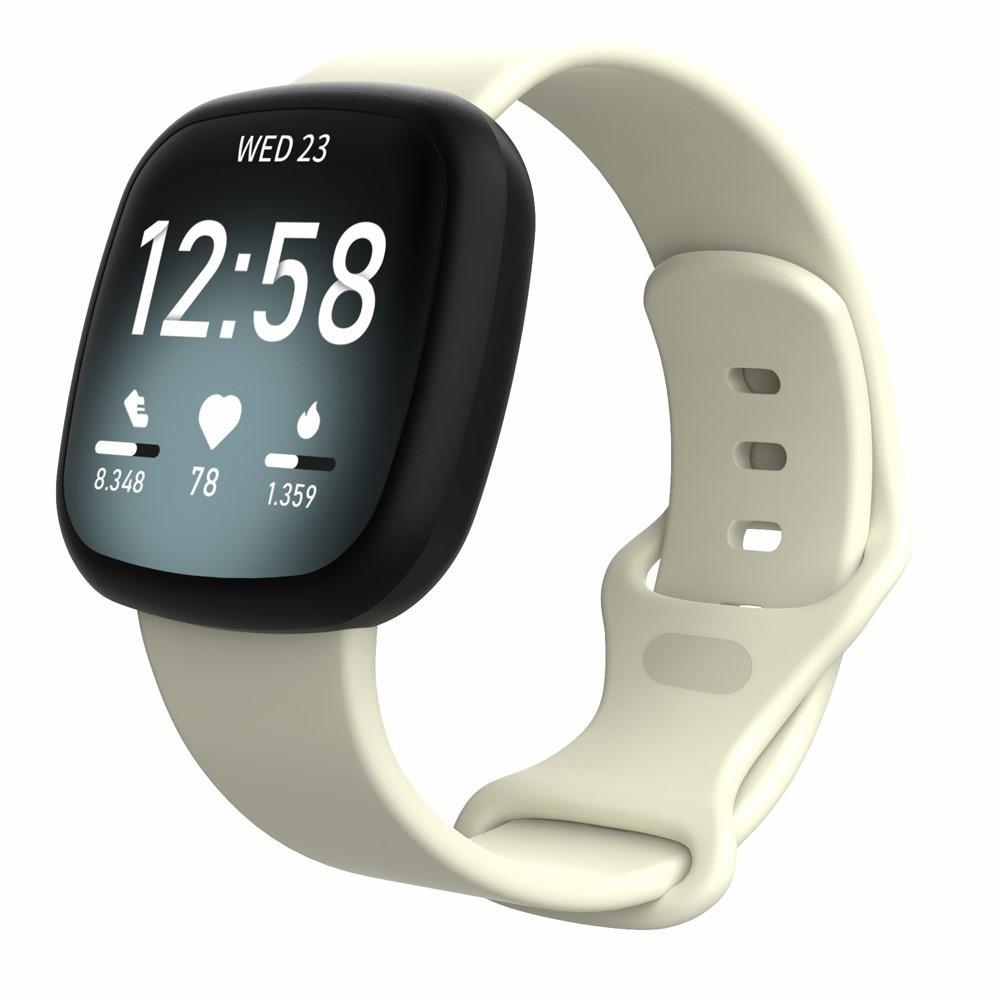 Silikoniranneke Fitbit Versa 3/Sense beige (Small)