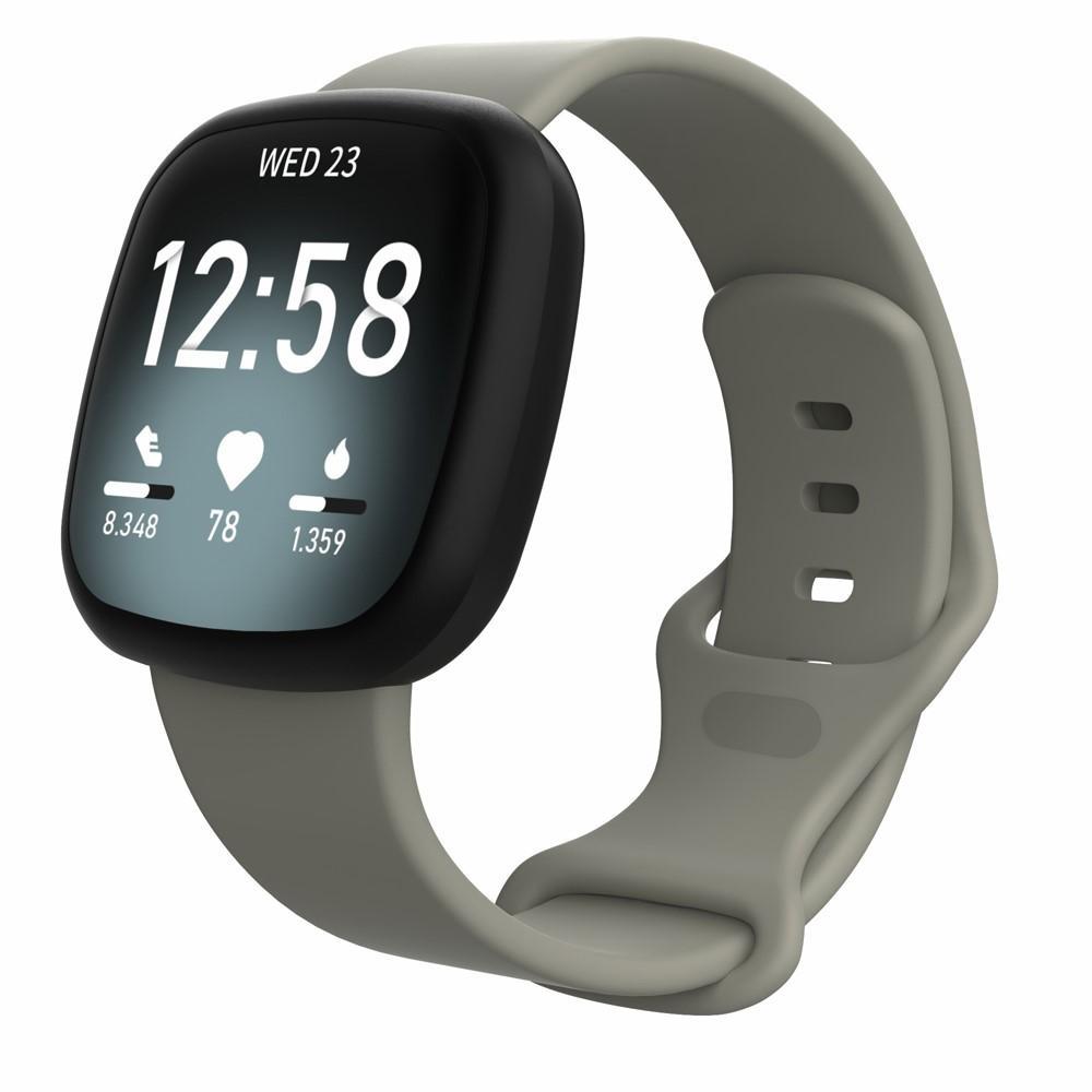 Silikoniranneke Fitbit Versa 3/Sense harmaa (Small)